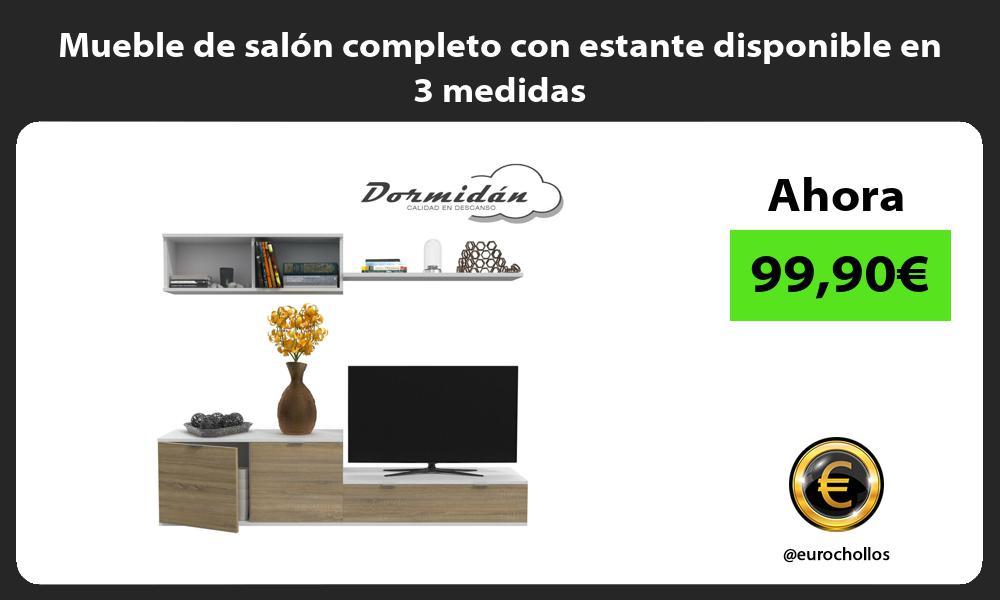 Mueble de salón completo con estante disponible en 3 medidas