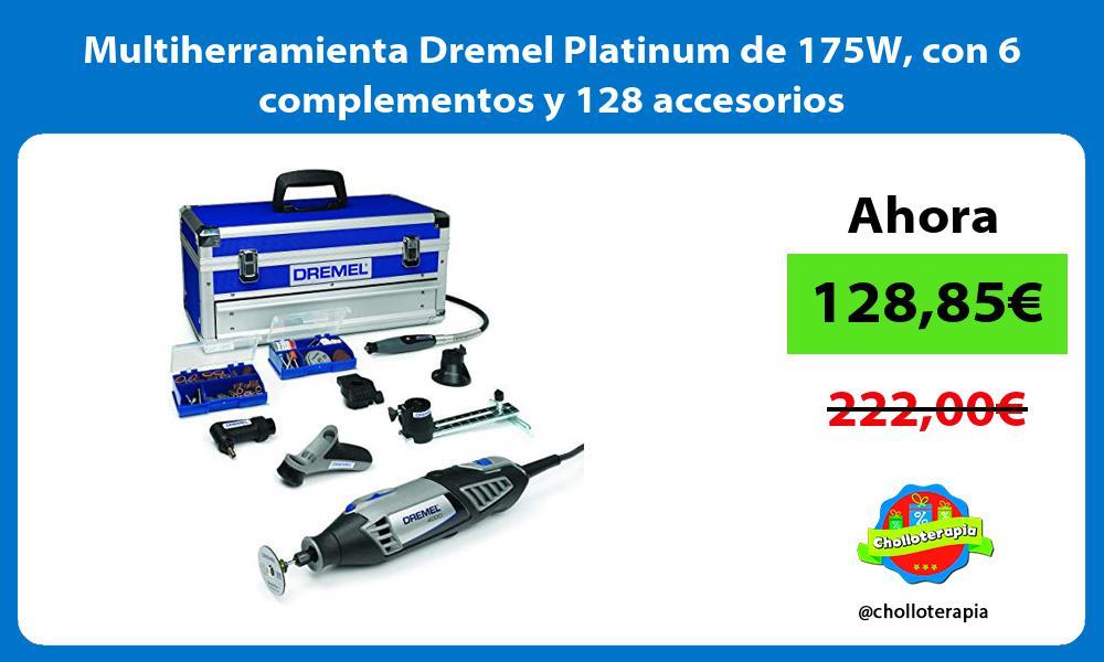 Multiherramienta Dremel Platinum de 175W con 6 complementos y 128 accesorios