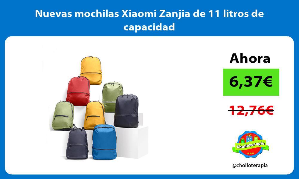 Nuevas mochilas Xiaomi Zanjia de 11 litros de capacidad
