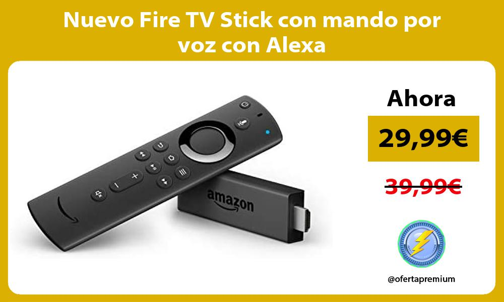 Nuevo Fire TV Stick con mando por voz con Alexa