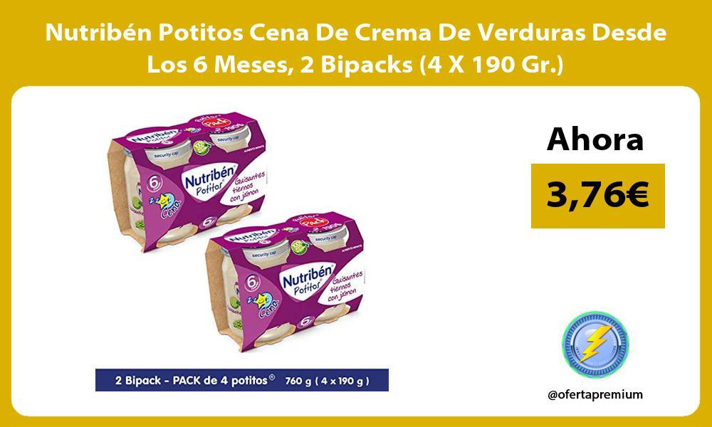 Nutribén Potitos Cena De Crema De Verduras Desde Los 6 Meses 2 Bipacks 4 X 190 Gr
