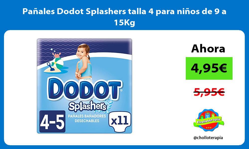 Pañales Dodot Splashers talla 4 para niños de 9 a 15Kg