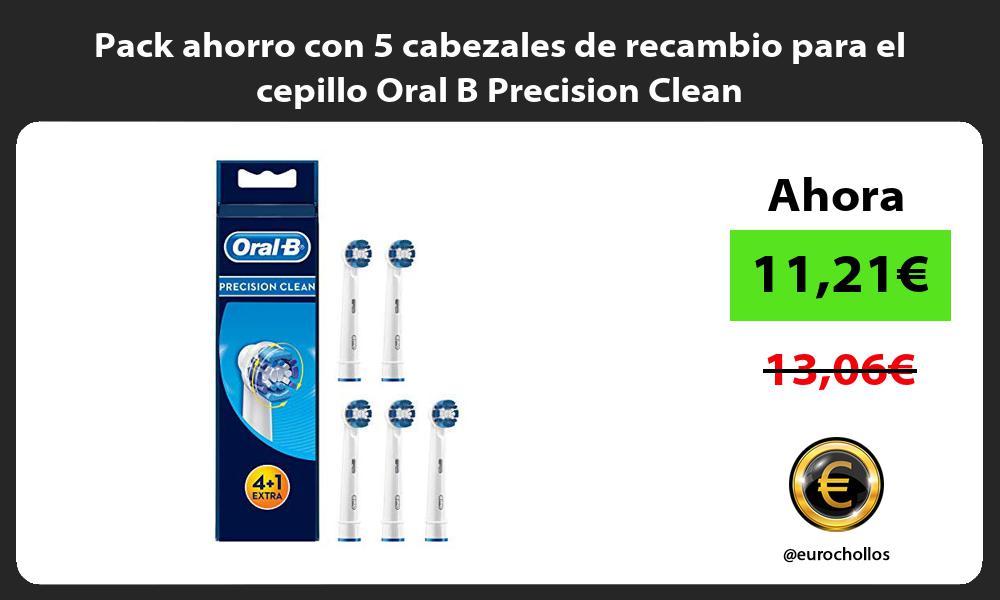 Pack ahorro con 5 cabezales de recambio para el cepillo Oral B Precision Clean
