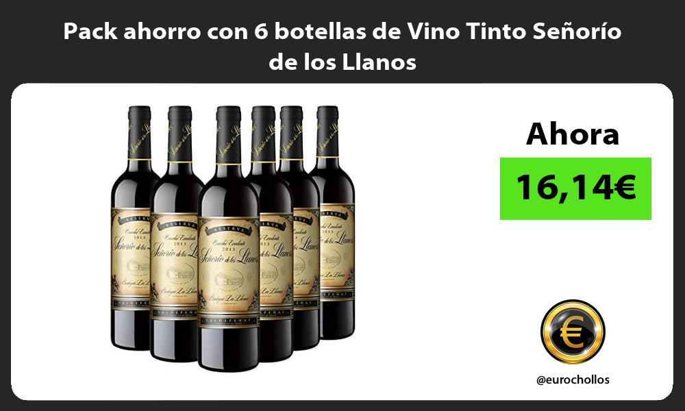 Pack ahorro con 6 botellas de Vino Tinto Señorío de los Llanos