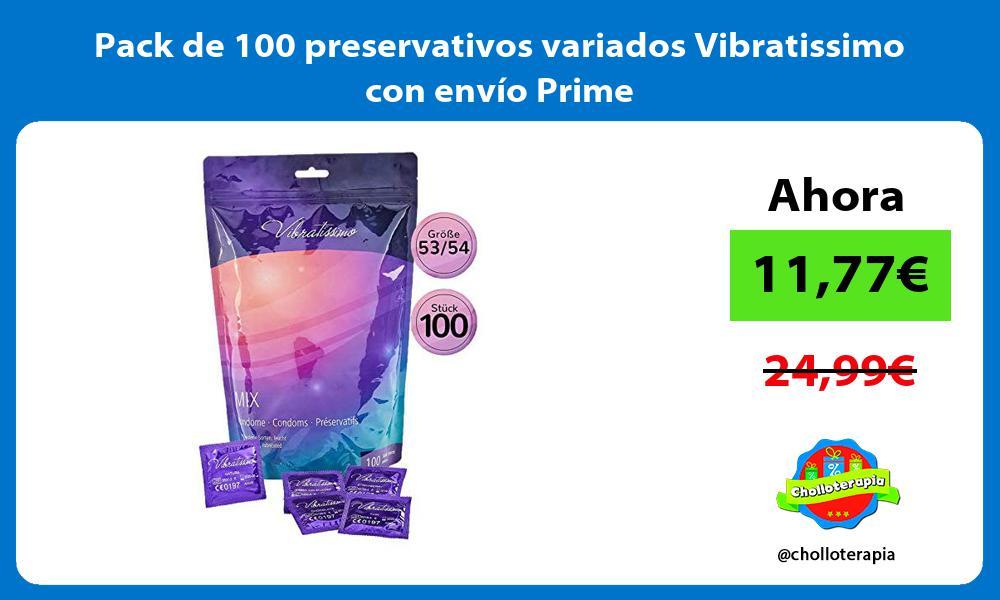 Pack de 100 preservativos variados Vibratissimo con envío Prime