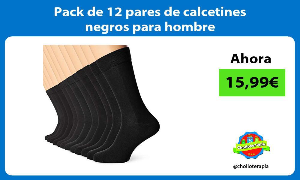 Pack de 12 pares de calcetines negros para hombre