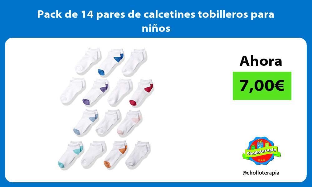 Pack de 14 pares de calcetines tobilleros para niños