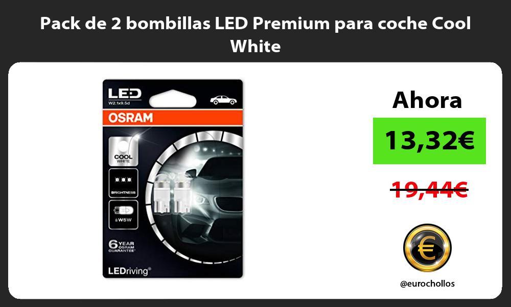 Pack de 2 bombillas LED Premium para coche Cool White