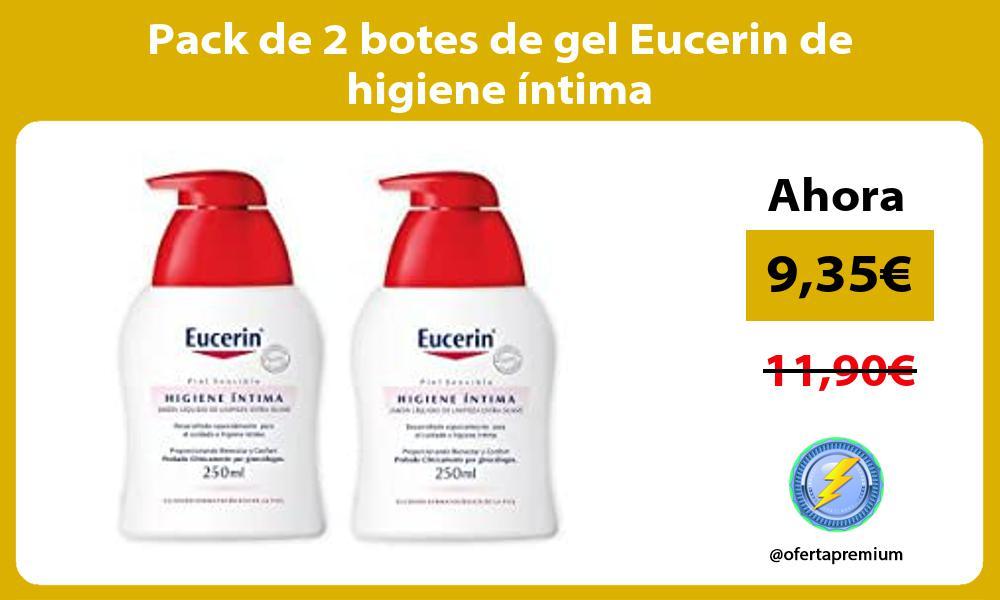 Pack de 2 botes de gel Eucerin de higiene íntima