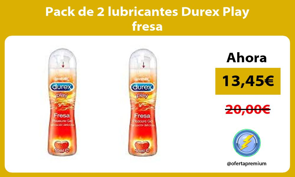 Pack de 2 lubricantes Durex Play fresa