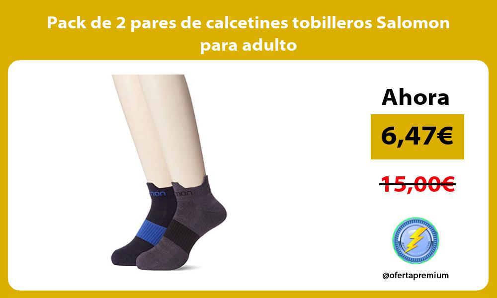 Pack de 2 pares de calcetines tobilleros Salomon para adulto