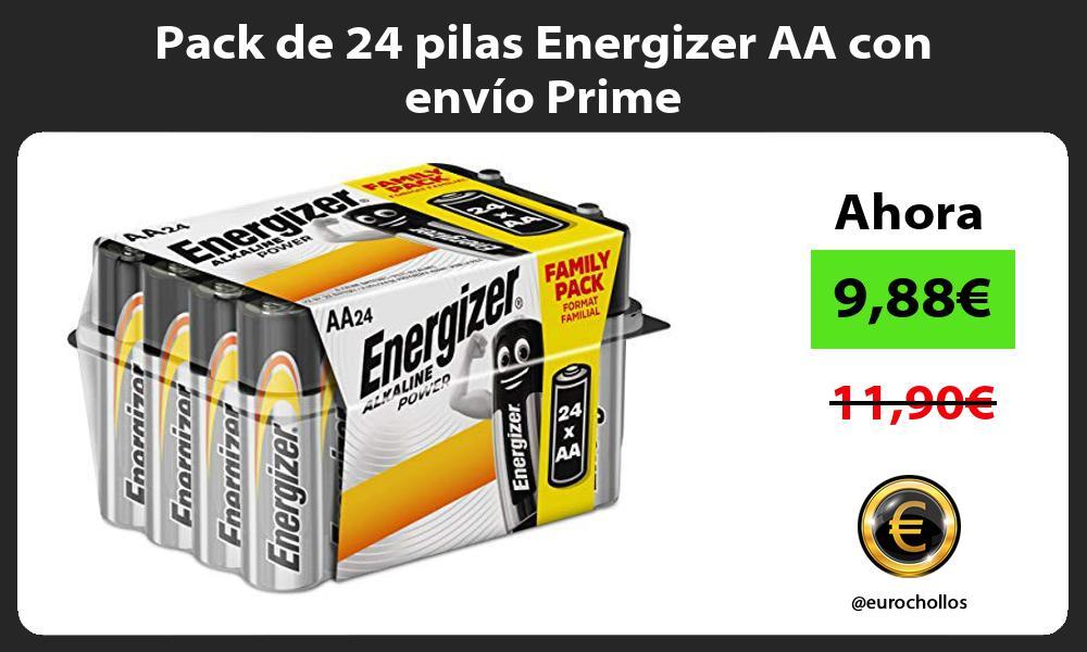 Pack de 24 pilas Energizer AA con envío Prime