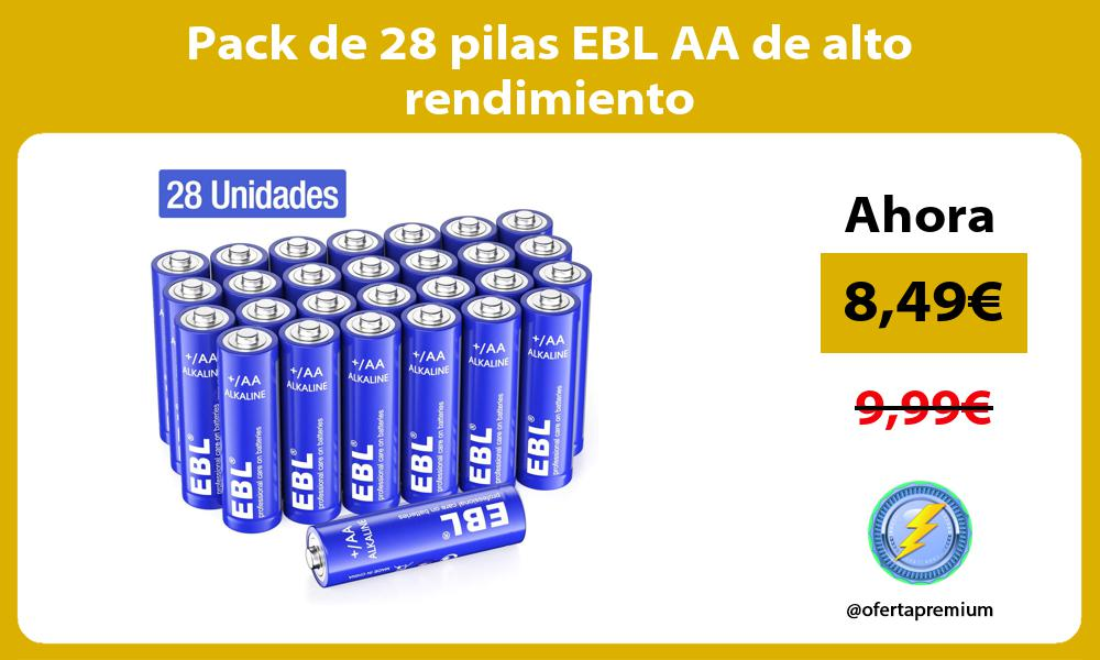 Pack de 28 pilas EBL AA de alto rendimiento