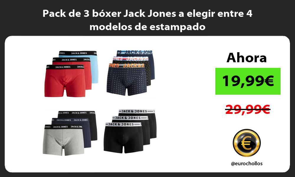 Pack de 3 bóxer Jack Jones a elegir entre 4 modelos de estampado
