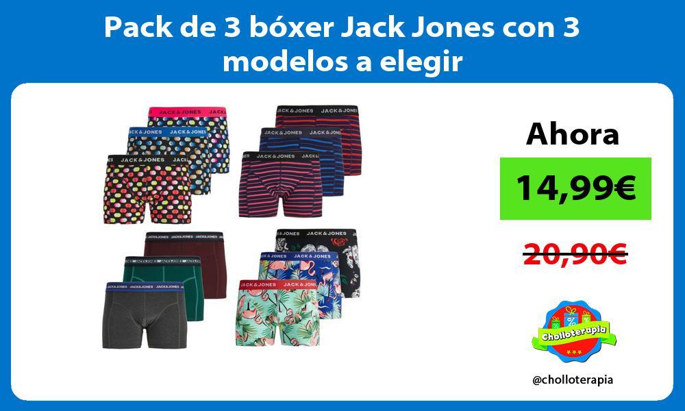 Pack de 3 bóxer Jack Jones con 3 modelos a elegir