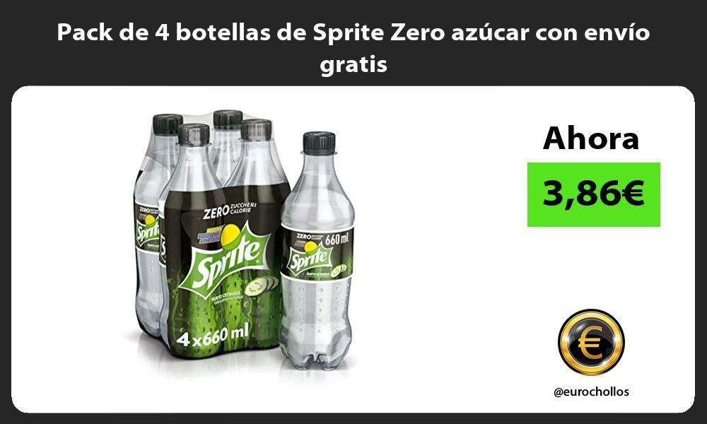 Pack de 4 botellas de Sprite Zero azúcar con envío gratis