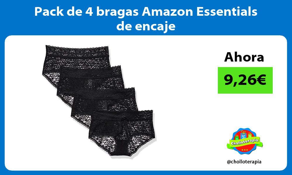 Pack de 4 bragas Amazon Essentials de encaje