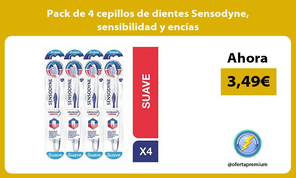 Pack de 4 cepillos de dientes Sensodyne sensibilidad y encías