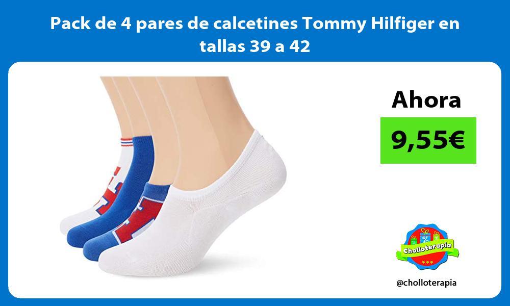 Pack de 4 pares de calcetines Tommy Hilfiger en tallas 39 a 42