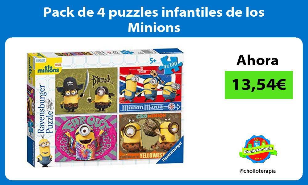 Pack de 4 puzzles infantiles de los Minions