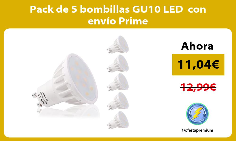 Pack de 5 bombillas GU10 LED con envío Prime