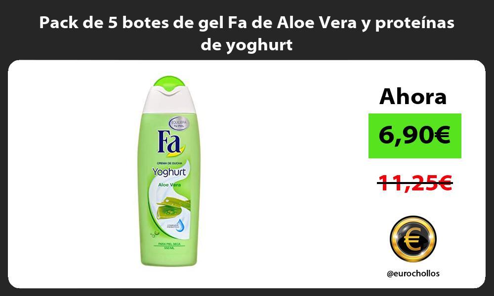 Pack de 5 botes de gel Fa de Aloe Vera y proteínas de yoghurt