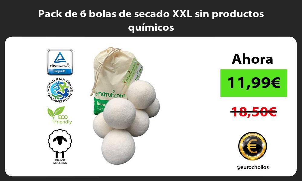 Pack de 6 bolas de secado XXL sin productos químicos