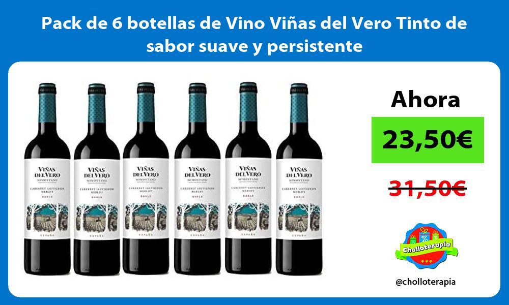 Pack de 6 botellas de Vino Viñas del Vero Tinto de sabor suave y persistente