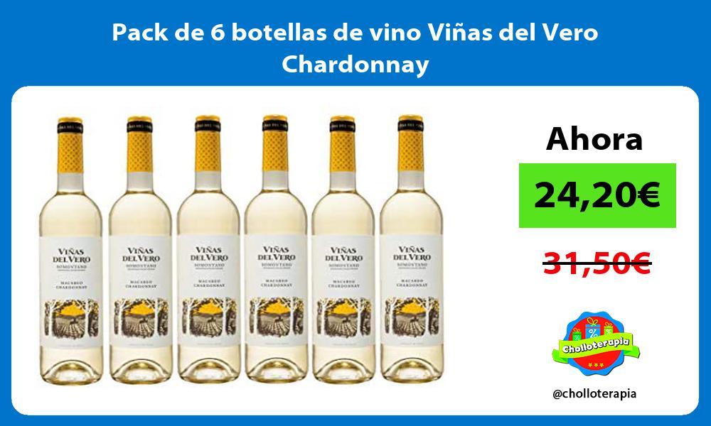 Pack de 6 botellas de vino Viñas del Vero Chardonnay