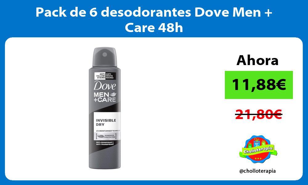 Pack de 6 desodorantes Dove Men Care 48h
