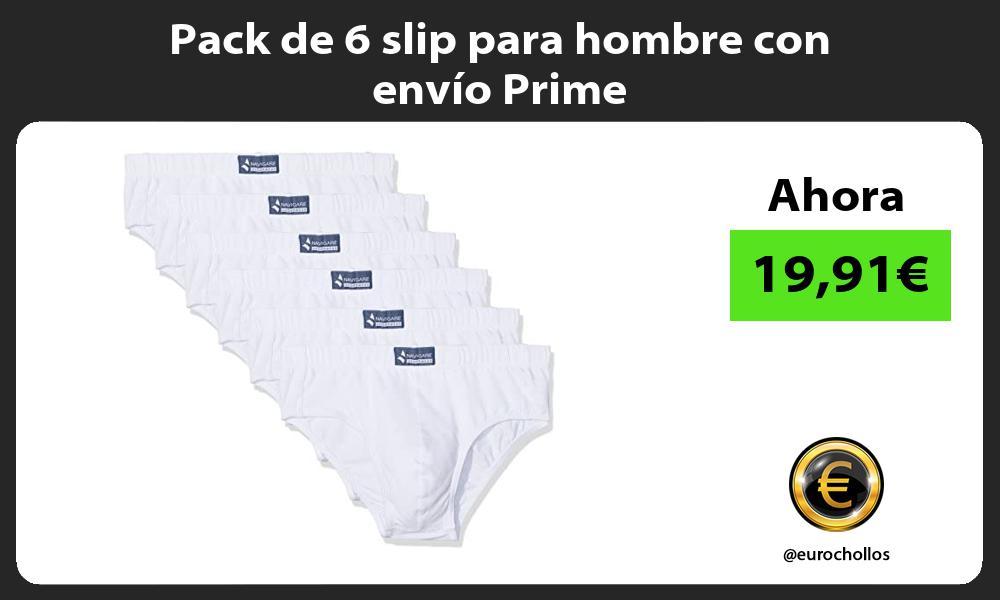 Pack de 6 slip para hombre con envío Prime