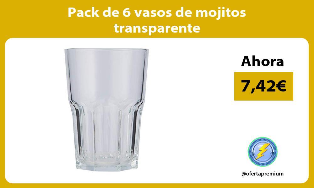 Pack de 6 vasos de mojitos transparente