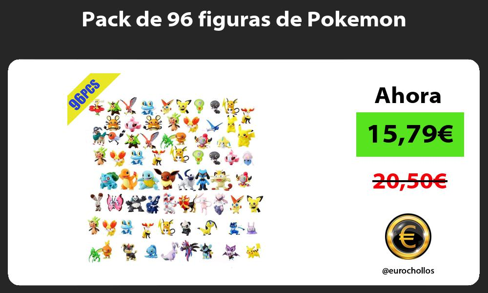 Pack de 96 figuras de Pokemon