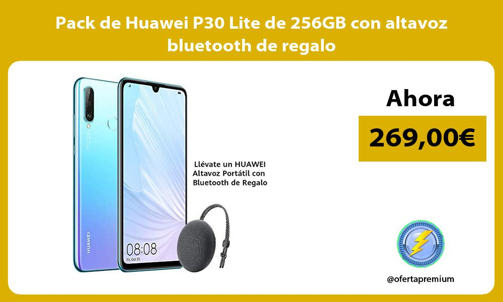 Pack de Huawei P30 Lite de 256GB con altavoz bluetooth de regalo