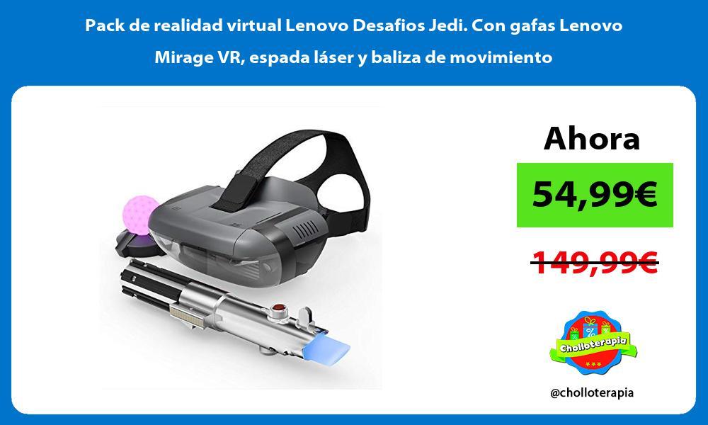 Pack de realidad virtual Lenovo Desafios Jedi Con gafas Lenovo Mirage VR espada láser y baliza de movimiento