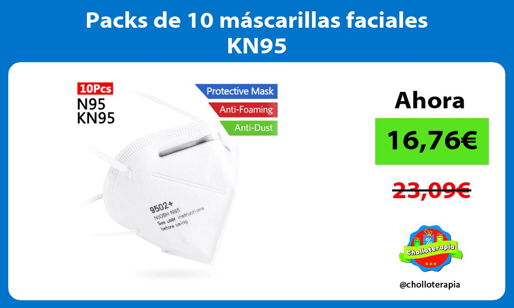 Packs de 10 máscarillas faciales KN95