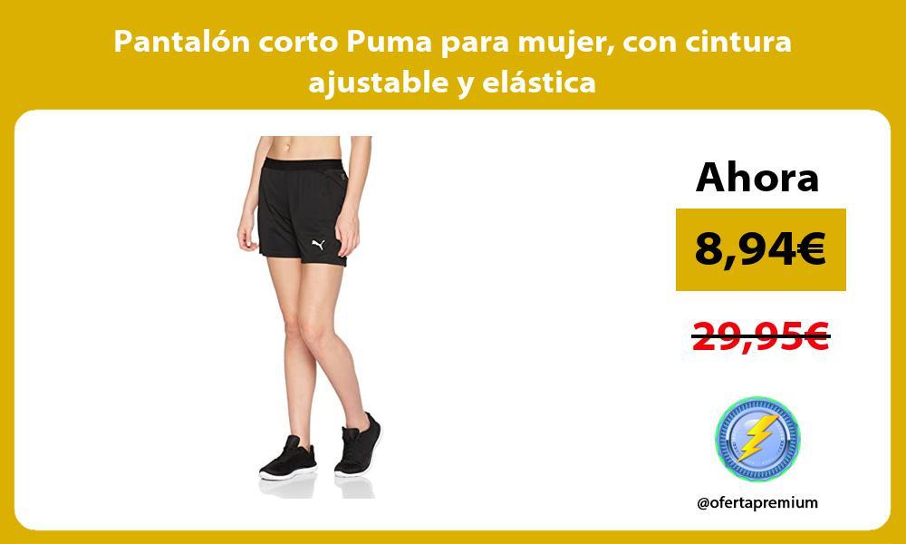 Pantalón corto Puma para mujer con cintura ajustable y elástica