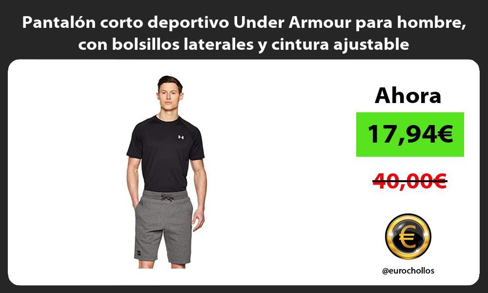 Pantalón corto deportivo Under Armour para hombre con bolsillos laterales y cintura ajustable
