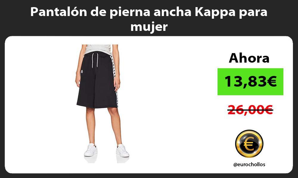 Pantalón de pierna ancha Kappa para mujer