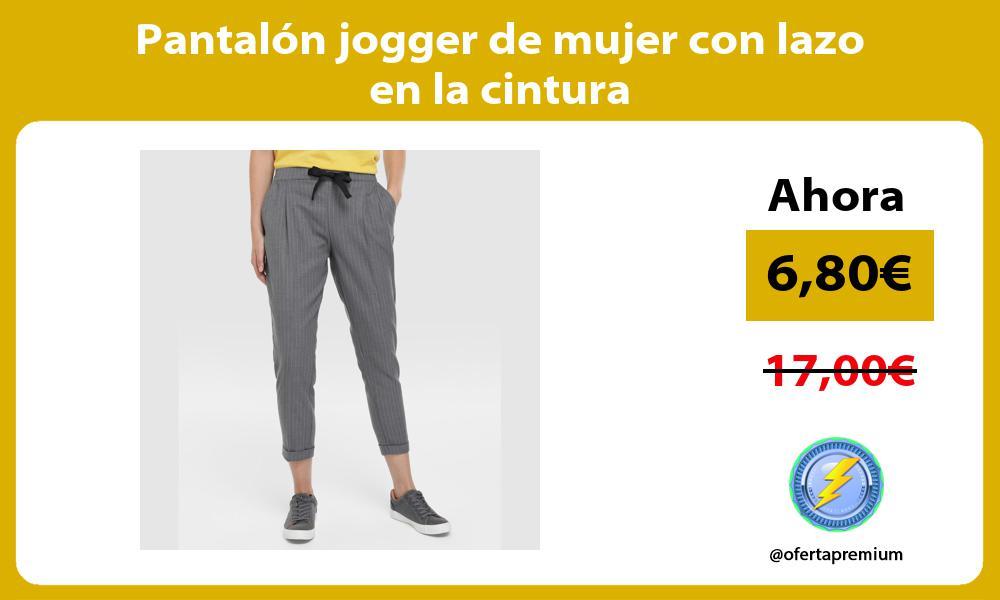 Pantalón jogger de mujer con lazo en la cintura