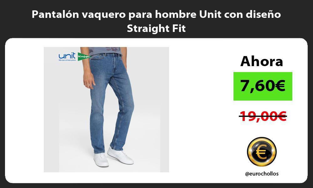 Pantalón vaquero para hombre Unit con diseño Straight Fit