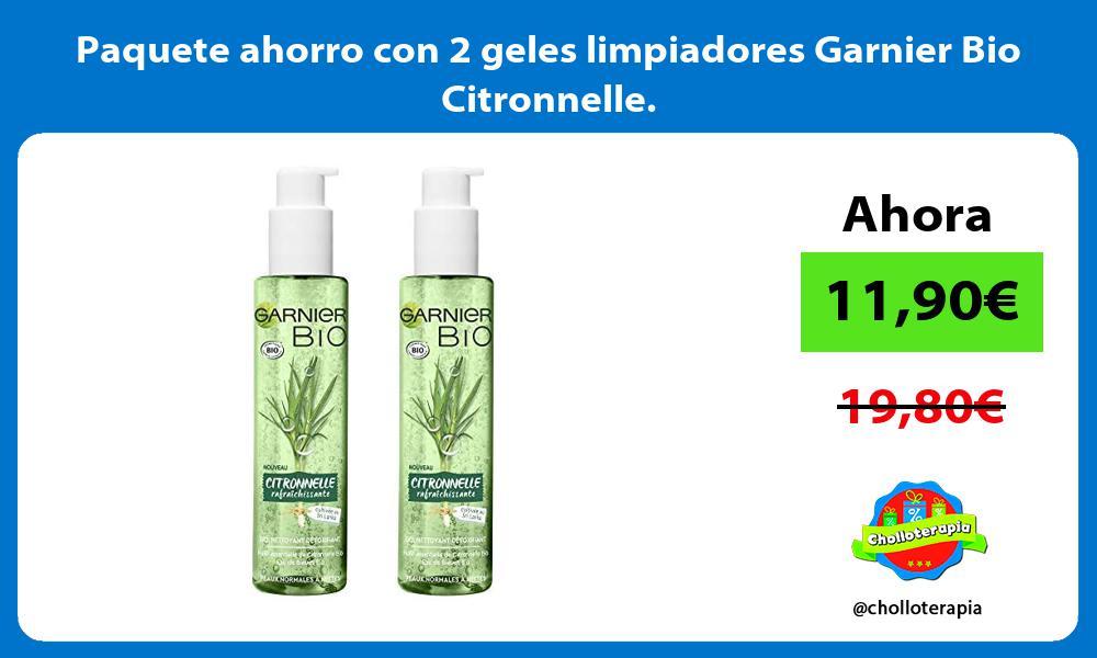 Paquete ahorro con 2 geles limpiadores Garnier Bio Citronnelle