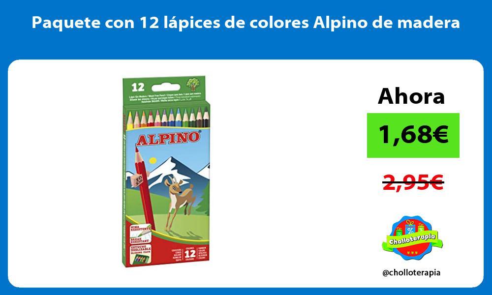 Paquete con 12 lápices de colores Alpino de madera