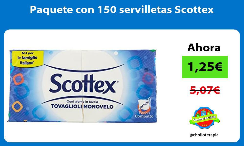 Paquete con 150 servilletas Scottex