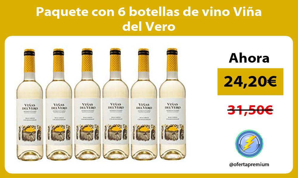 Paquete con 6 botellas de vino Viña del Vero
