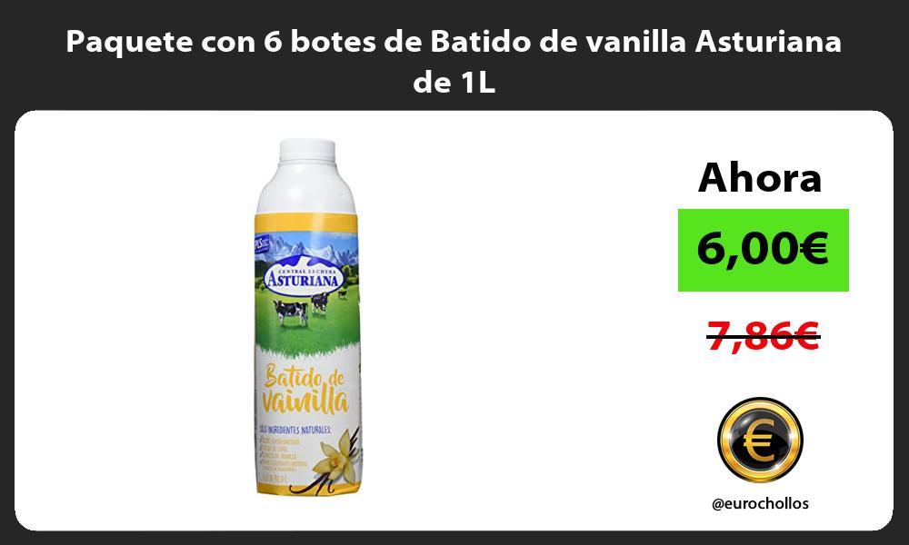 Paquete con 6 botes de Batido de vanilla Asturiana de 1L