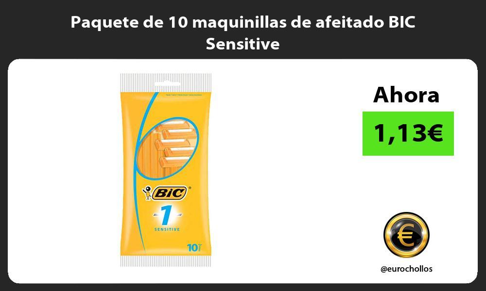 Paquete de 10 maquinillas de afeitado BIC Sensitive