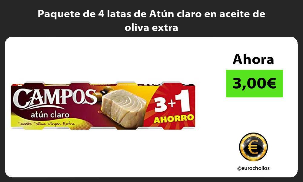 Paquete de 4 latas de Atún claro en aceite de oliva extra
