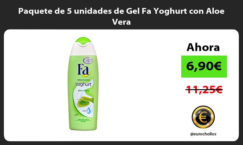 Paquete de 5 unidades de Gel Fa Yoghurt con Aloe Vera