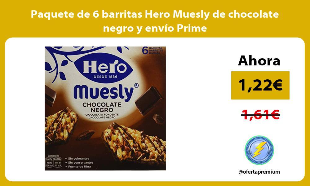 Paquete de 6 barritas Hero Muesly de chocolate negro y envío Prime